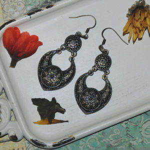 Beautiful Large Bronze Dangle Earrings